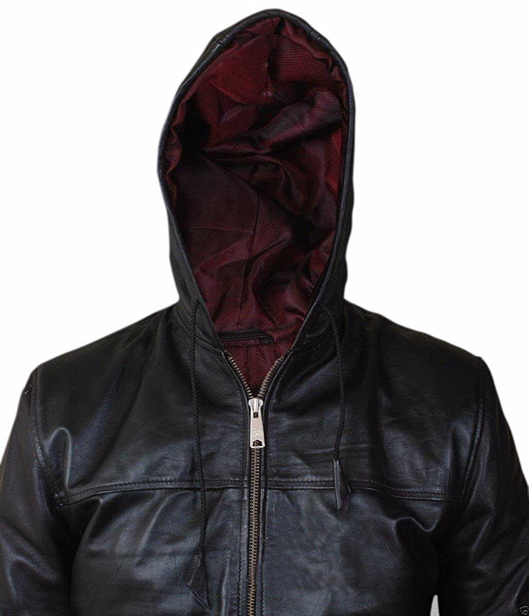 Airforce Homme synthétique Bomber Hooded Skin Faux Feather Veste xqwIBgf
