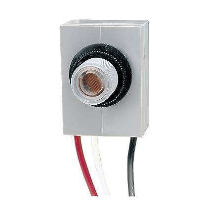 intermatic k4021c 120-volt fixed position thermal photocontrol - dusk to  dawn photosensor - amazon com