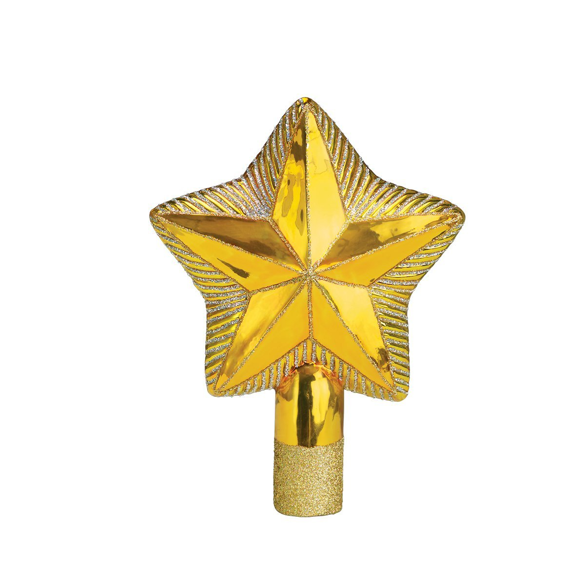 Old World Christmas Ornaments: Star Tree Top Glass Blown Ornaments for Christmas Tree