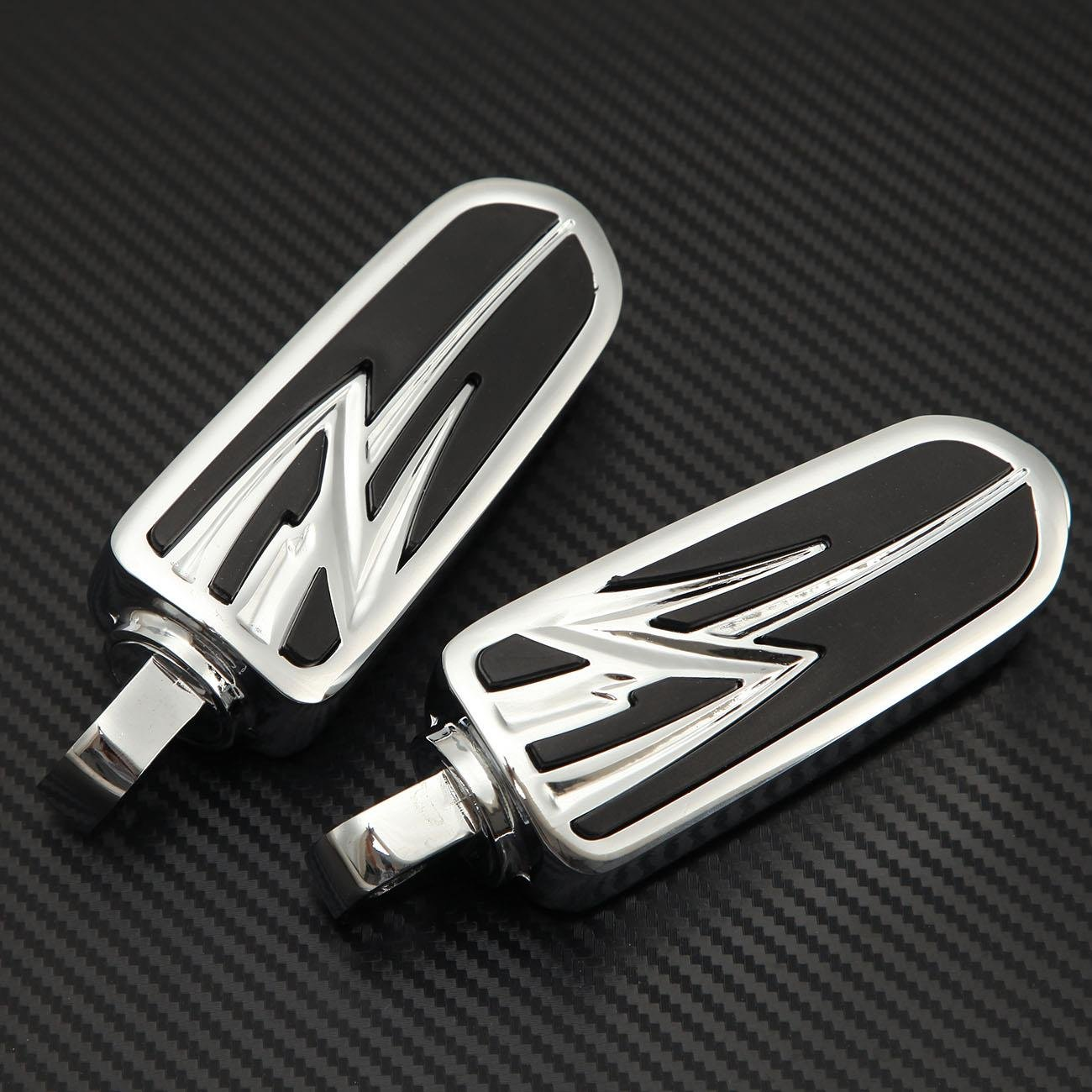 INNOGLOW Motorcycle Foot Pegs Anti Vibration Skidproof Front Rear Foot Rests Aluminum FootPeg Set Fit For Harley Davidson