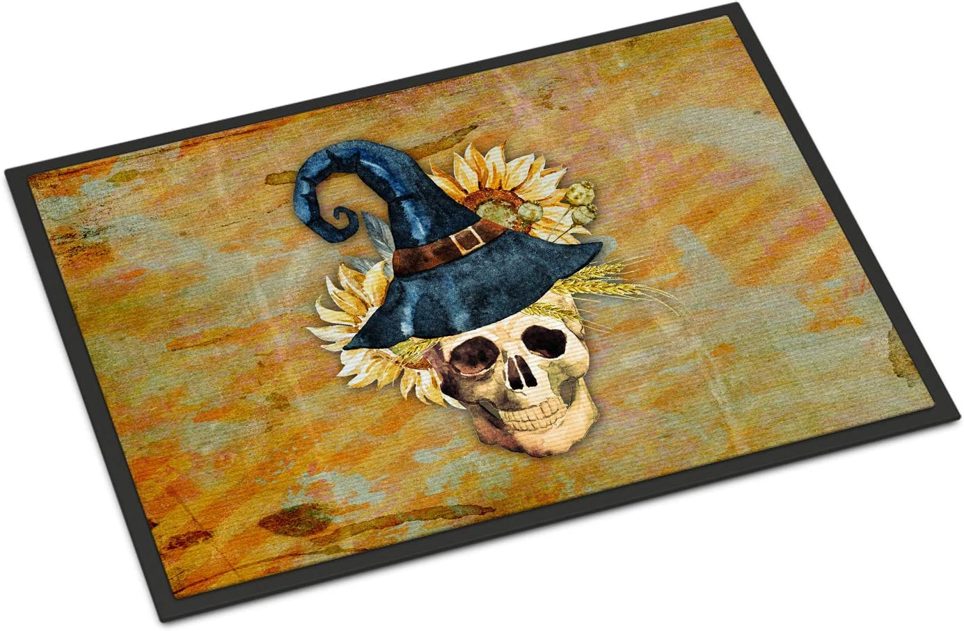Amazon Com Caroline S Treasures Bb5126jmat Day Of The Dead Witch Skull Indoor Or Outdoor Mat 24x36 24h X 36w Multicolor Caroline S Treasures Home Kitchen