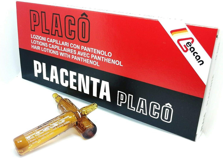 Placenta Placo - Ampollas para tratamiento intensivo antipérdida del cabello 12 x 10 ml.