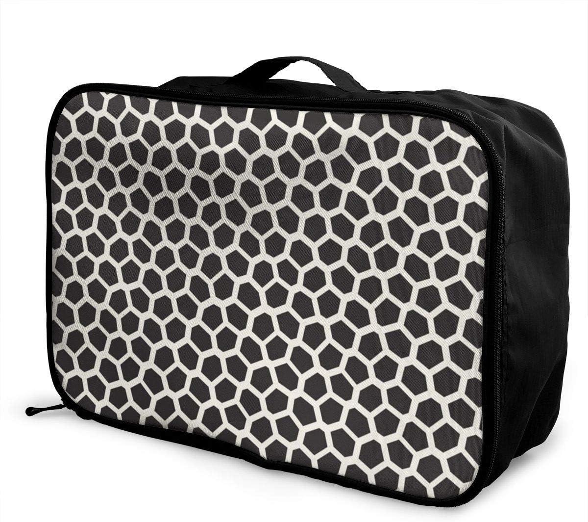 Yunshm Abstract Irregular Line Mosaic Pattern Customized Trolley Handbag Waterproof Unisex Large Capacity For Business Travel Storage