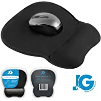 Ergonomic Mouse Pad with Wrist Rest Support, Black | Eliminates All Pains, Carpal Tunnel & Any Other Wrist Discomfort! Non-Slip Base, Stitched Edges!