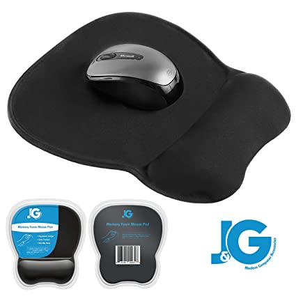 73c98b48246 J&G Modern Computer Accessories Ergonomic Mouse Pad with Wrist Rest  Support, Black | Eliminates All