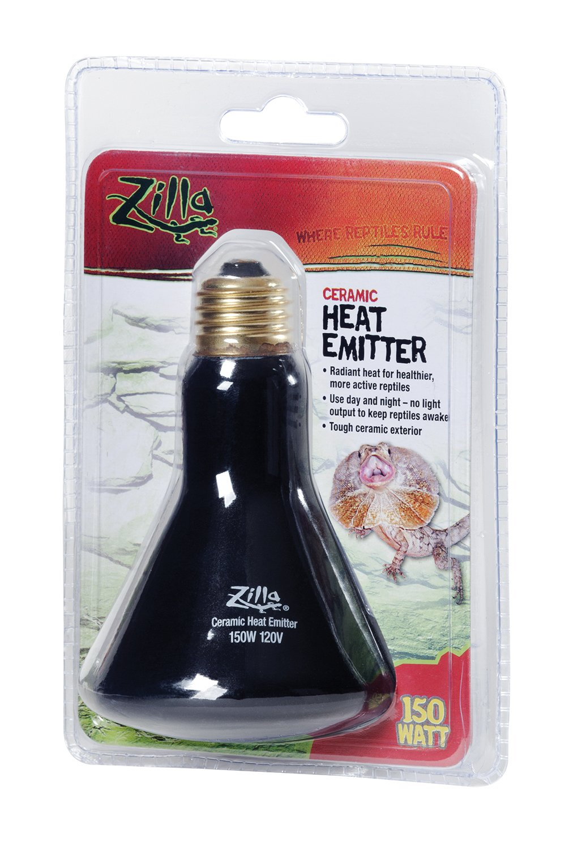 Zilla Reptile Terrarium Heat Lamps Emitter, 150 Watt