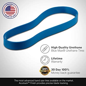 2 BLUE MAX ULTRA DUTY URETHANE BAND SAW TIRES FOR MASTER MACHINERY MC-18BS-3