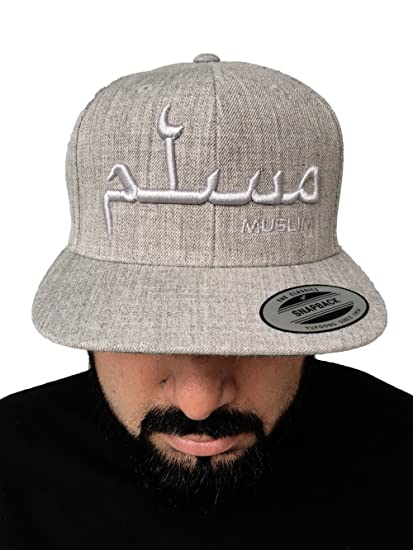 Muslim Islamic Snapback Cap  Arabic Embroidery on Original Flexfit Snapback  Cap (Black Black) at Amazon Men s Clothing store  07ead389b688