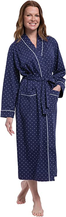 Ladies Jersey Kimono Wrap Cotton Dressing Gown House Coat Pink Patterned Mint