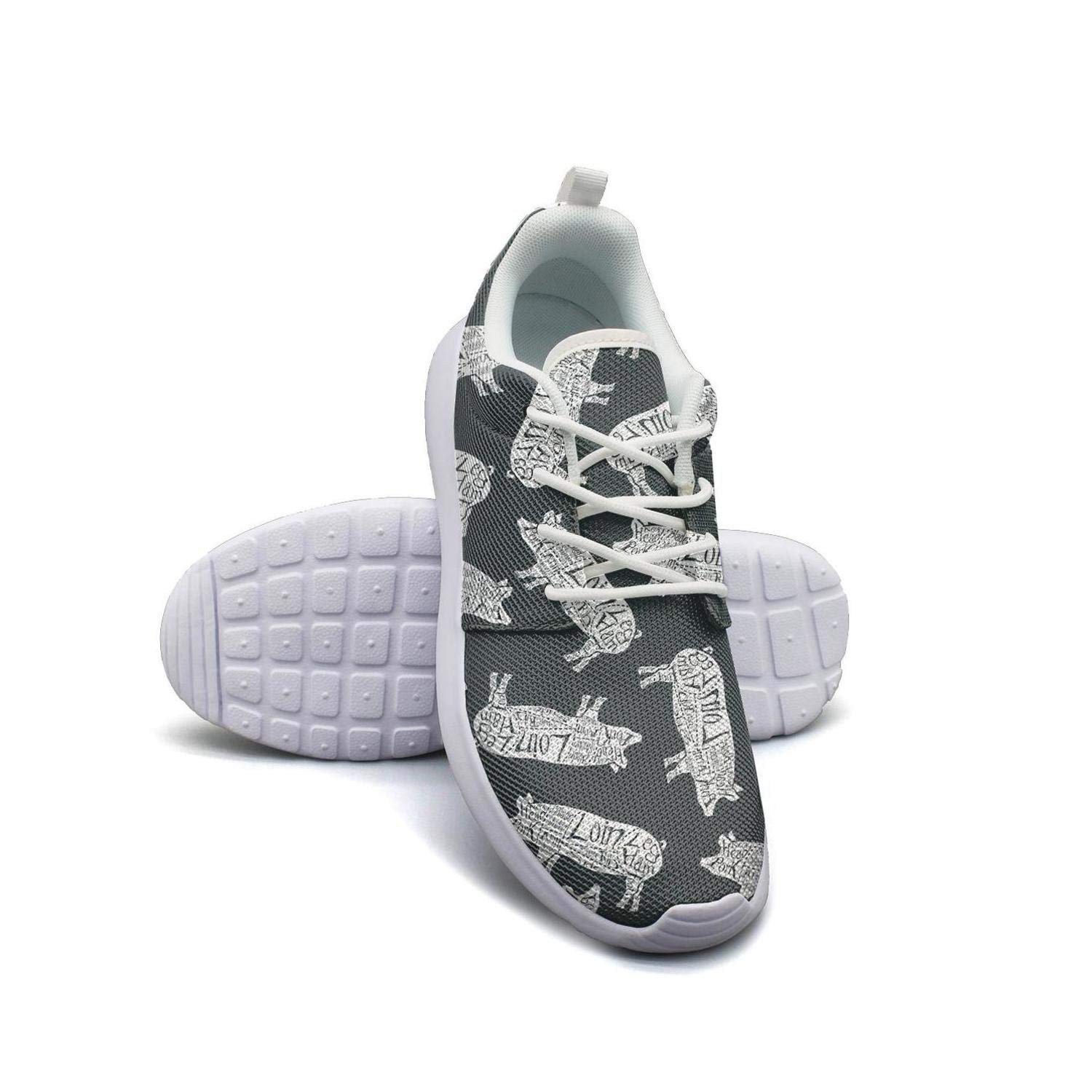 Cute Unicorn Pig in The Pink Cloud Womens Lady Canvas Casual Shoes Sneakers Cute Fitness Shoe