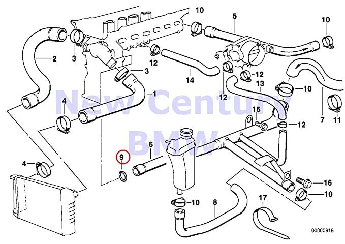 Amazon Com Bmw Genuine Cooling System Water Hoses O Ring 18 2x3