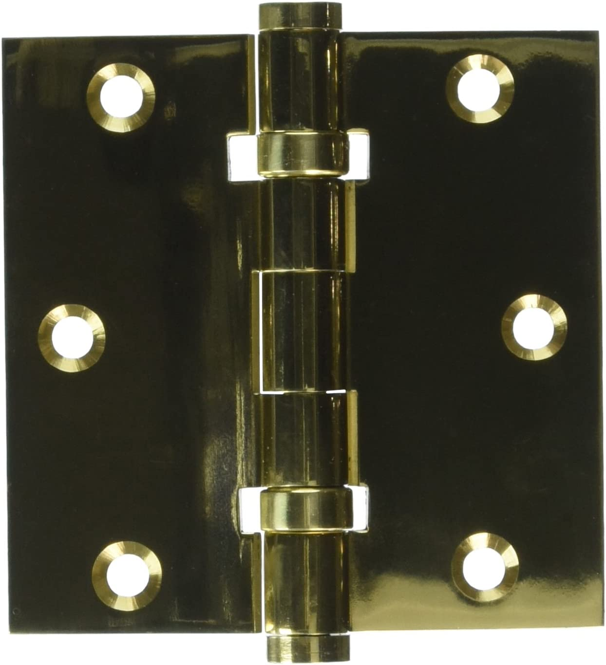 Deltana DSB35B3 Ball Bearings Solid Brass 3 1//2-Inch x 3 1//2-Inch Square Hinge