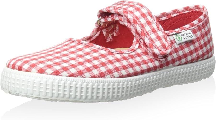 Cienta Kids Red Gingham Sneakers