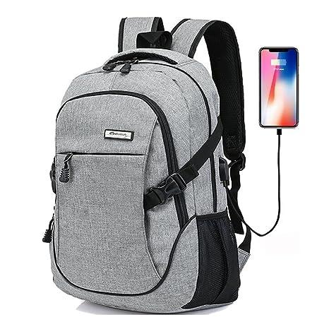 Mochilas Ordenador Portátil Mochila Para Portátil Para, Mochilas Impermeable de Carga USB Unisex con Durable
