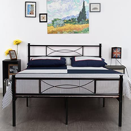 Amazoncom Simlife Metal Bed Frame Full Size 10 Legs Two