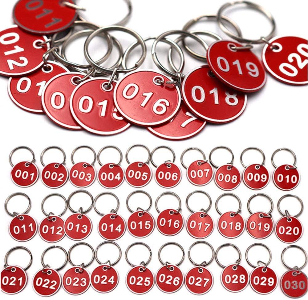 de pl/ástico Winomo con anilla 60 llaveros o etiquetas identificativas para equipaje varios colores