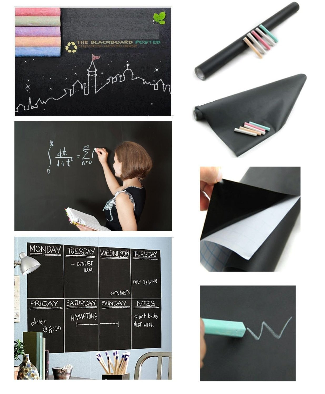 Amazon fancy fix halloween gift blackboard vinyl peel and amazon fancy fix halloween gift blackboard vinyl peel and stick self adhesive chalkboard wall sticker with 5 chalks big roll 177 by 787 inches home amipublicfo Images