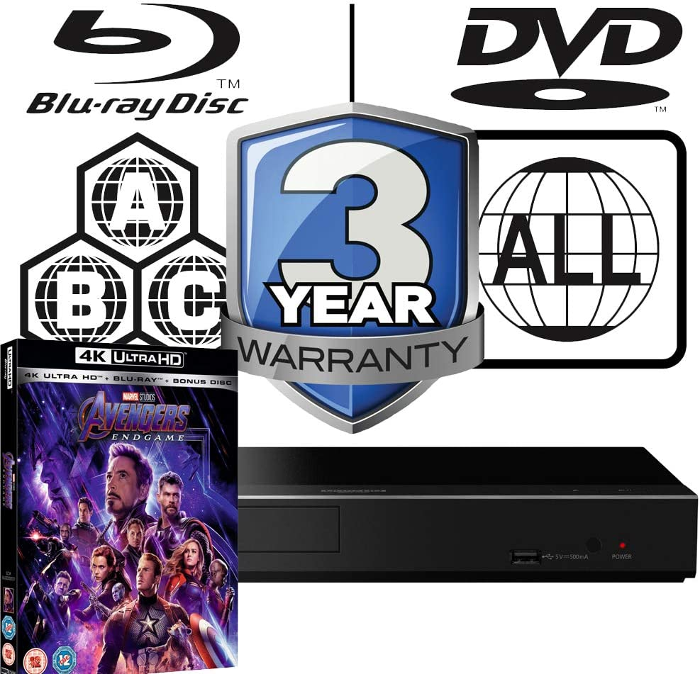 Panasonic DP-UB450 MULTIREGION Bundle including Avengers Endgame Ultra HD 4K Blu-ray Disc