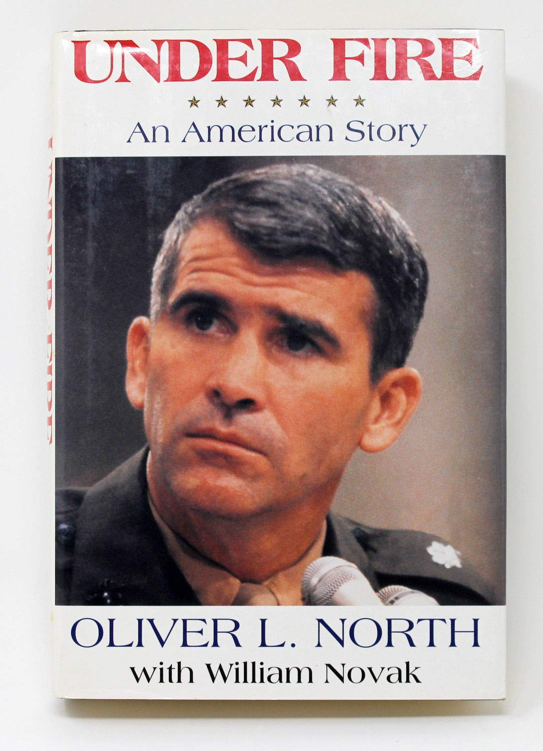 Oliver North Autographed Signed Hardback Book Under Fire Beckett Authentic