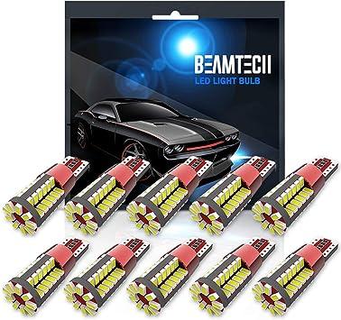 10Pcs T10 LED White Auto Car Wedge Light Bulbs Canbus Error Free 3014 57SMD W5W