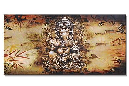 Amazon.com: SUNRISE ART Hindu Fairy Wall Art India Ganesha Yoga ...