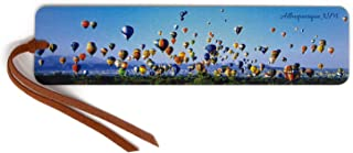 product image for Personalized Hot Air Balloon Festival Albuquerque, NM - Wooden Bookmark with Suede Tassel