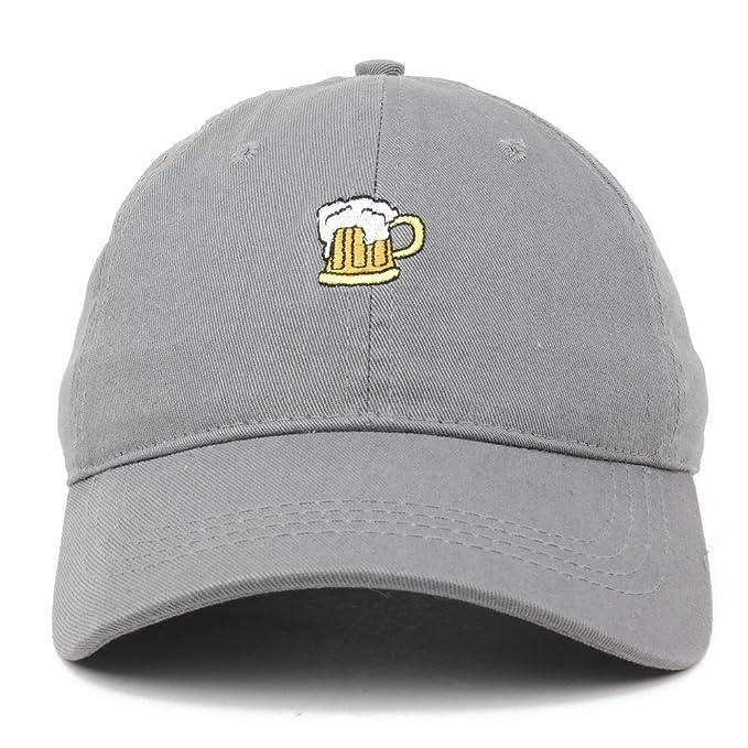 Beer Mug Emoticon 100% Cotton Adjustable Baseball Dad Cap - GREY at Amazon  Men s Clothing store  d1559bb82009