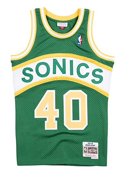 bc0c1e3dbc6e Image Unavailable. Image not available for. Color  Mitchell   Ness Shawn  Kemp ...