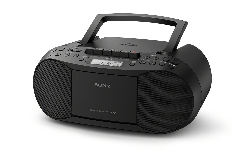 Sony CFDS70 CD/Cassette Boombox Home Audio Radio, Black (Renewed)