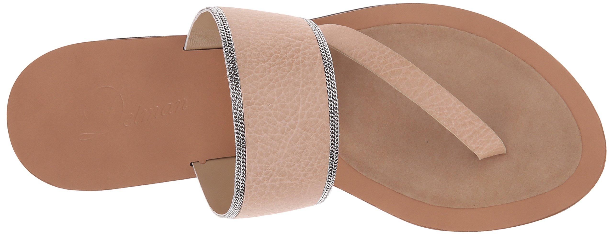 Delman Women's D-Una-V Slide Sandal, Sand Dune Vachetta/Fine Chain, 9.5 M US by Delman (Image #8)