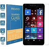 PREMYO Lumia 640 Panzerglas. Microsoft Lumia 640 Displayschutzfolie mit Härtegrad 9H und abgerundeten Ecken 2,5D. Microsoft Lumia 640 Schutzglas