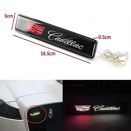 Cadillac Logo LED Light Car Front Grille Badge Illuminated Decal Sticker