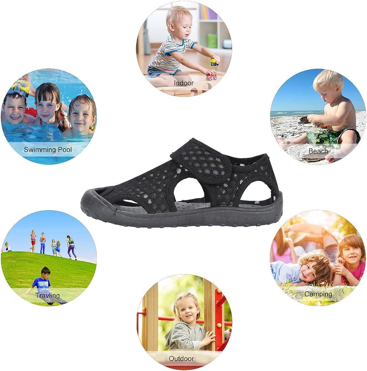Qimaoo Kinder Sommer Sandalen Outdoor Indoor Schuhe Geschlossene Atmungsaktiv Strand Wanderschuhe f/ür Baby