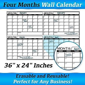 amazon com business basics extra large dry erase 4 month 24 x 36