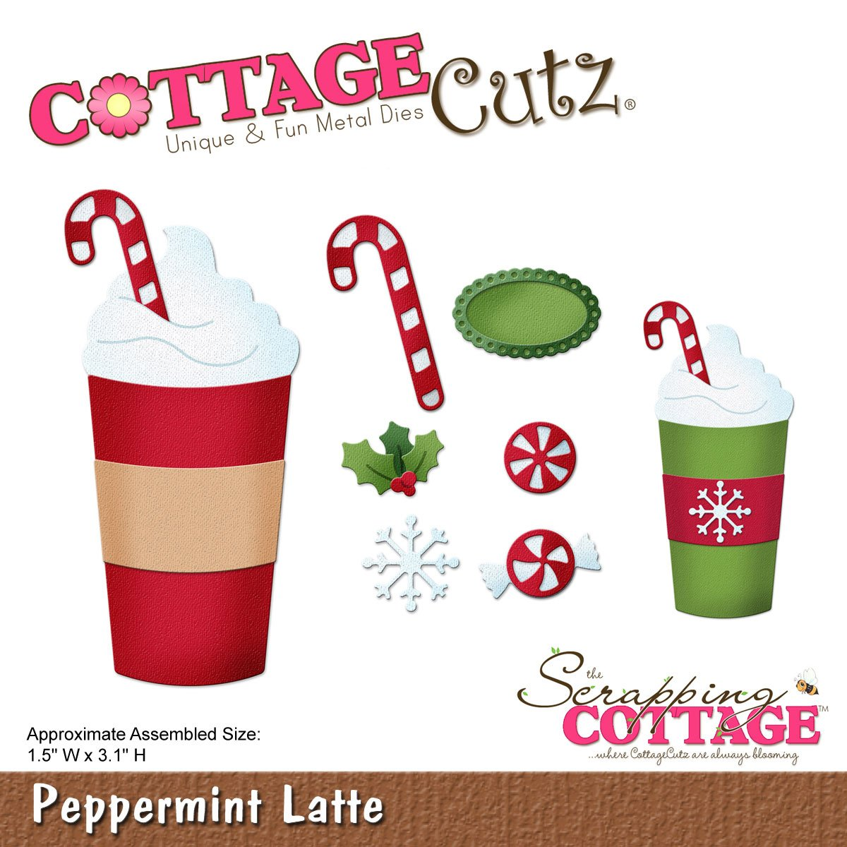 Cottagecutz Die-Peppermint Latte, 1.5x3.1 CC-179