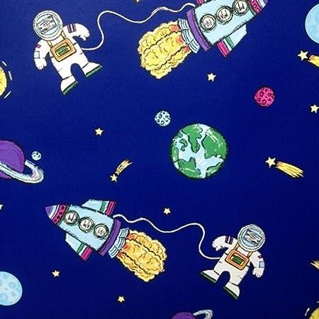 Debona Blue Spaceman Wallpaper 6338 By Debona Amazon Co Uk