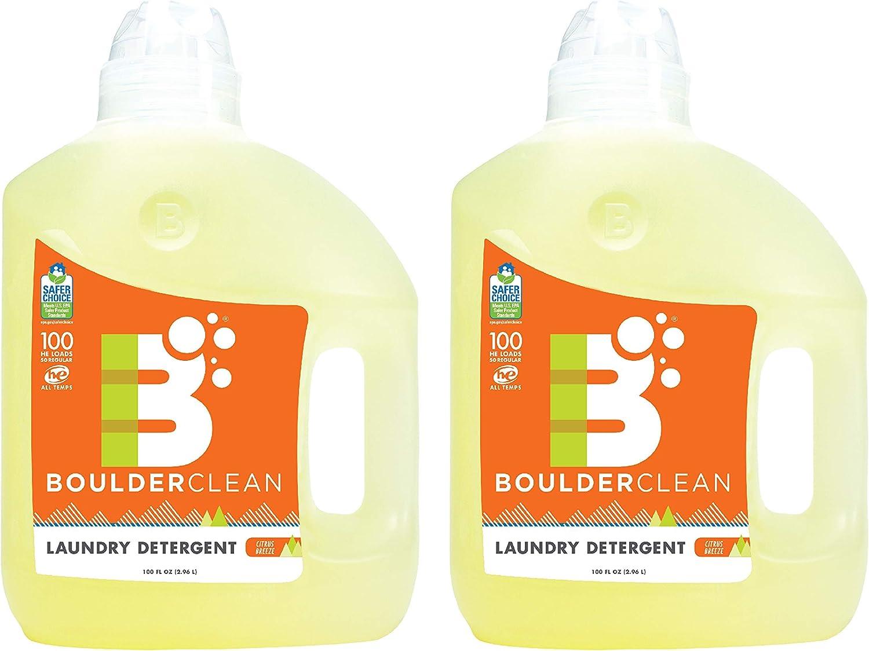 Boulder Clean Laundry Detergent, Citrus Breeze, 100 Ounce, Pack of 2