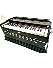 Harmonium 9 Stopper, 3.5 Octaves, Coupler Function, 42 Keys, 2 Reed, Mahagony Colour with Bag