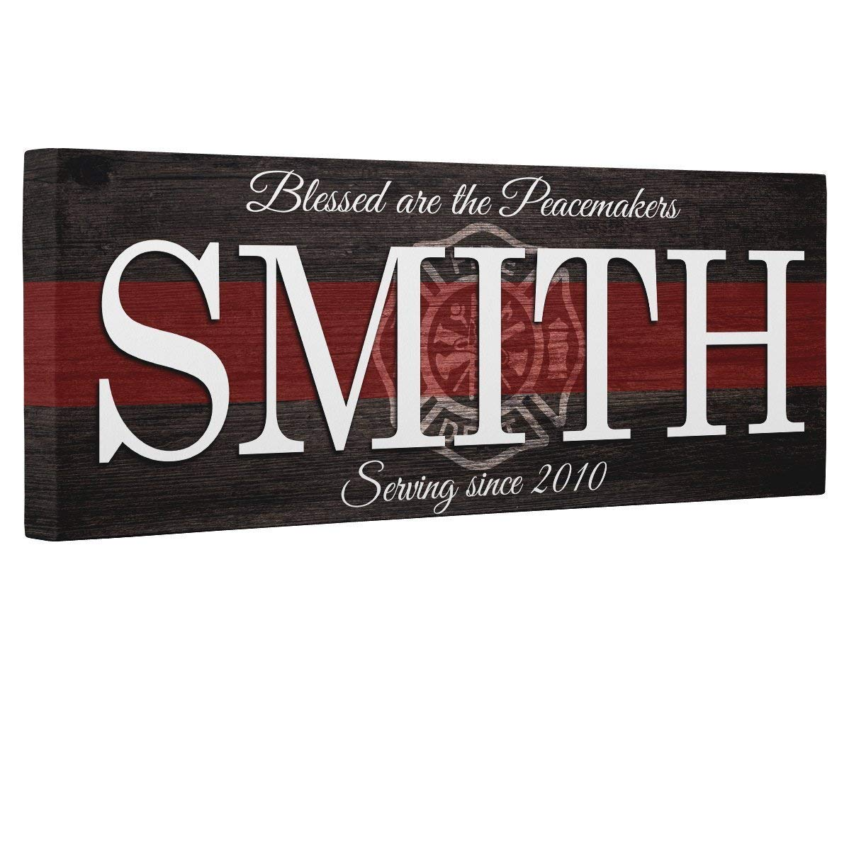 Blessed Firefighter Gift Canvas Wall Art Decor