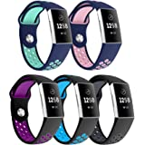 YaYuu Fitbit Charge 3 Strap Bands, Adjustable Replacement Accessory Bracelet Soft Silicone Sport Wristband Straps for Fitbit Charge 3/Charge 3 SE Fitness Tracker