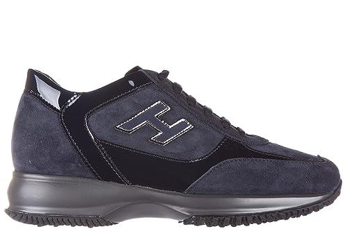 new arrival e91d4 818fc Hogan scarpe sneakers donna camoscio nuove interactive allacciata blu EU 37  HXW00N0258225Q9999