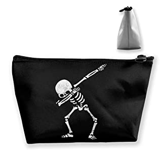 Dabbing Skeleton Dab Hip Hop Skull Multifunction Travel Makeup Bags Pencil Case Handbag Organizers With Zipper