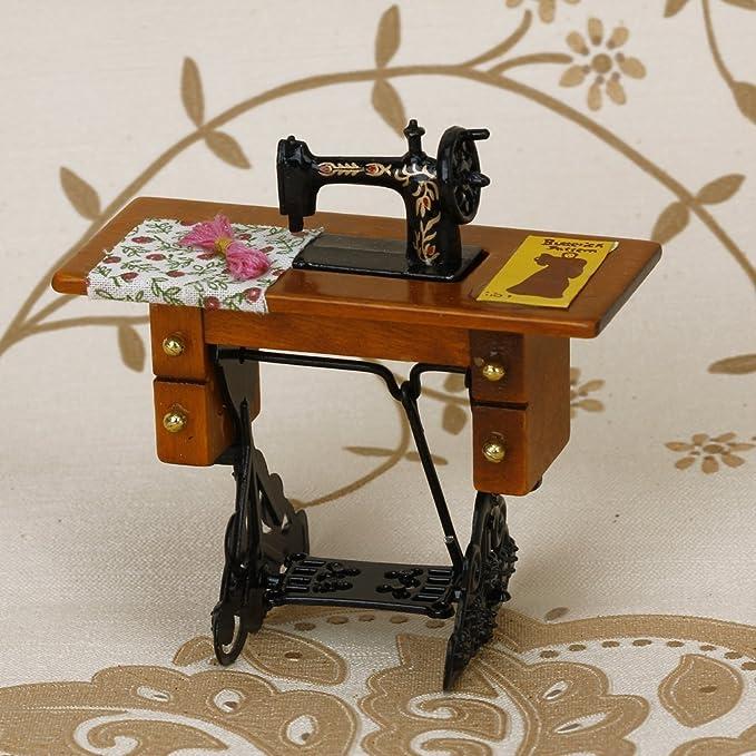 SODIAL(R) Maquina de coser miniatura de la vendimia con el pano ...