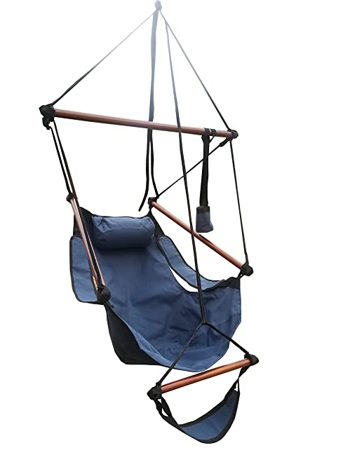 Attirant Palm Springs Sky Air Chair Hammock W/ Pillow Blue