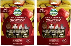 Oxbow Simple Rewards Baked Treats - Apple & Banana - 4oz (2 Pack) (?wo ?ack)