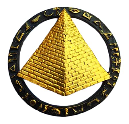 Pegatina de recuerdo para nevera, diseño de pirámides egipcios ...