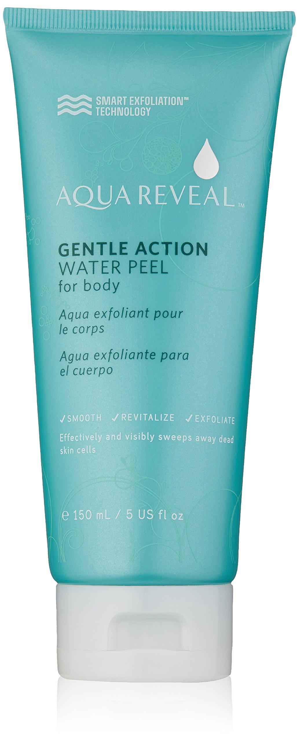 Aquareveal Gentle Action Water Peel for Body | exfoliator for feet, elbows, knees, hands, keratosis pilaris | 95% organic/natural Korean peeling gel/gommage (no scrub body exfoliator) | 150 ml/5 fl oz