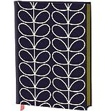Orla Kiely Linear Stem Fabric-Covered A5 Journal