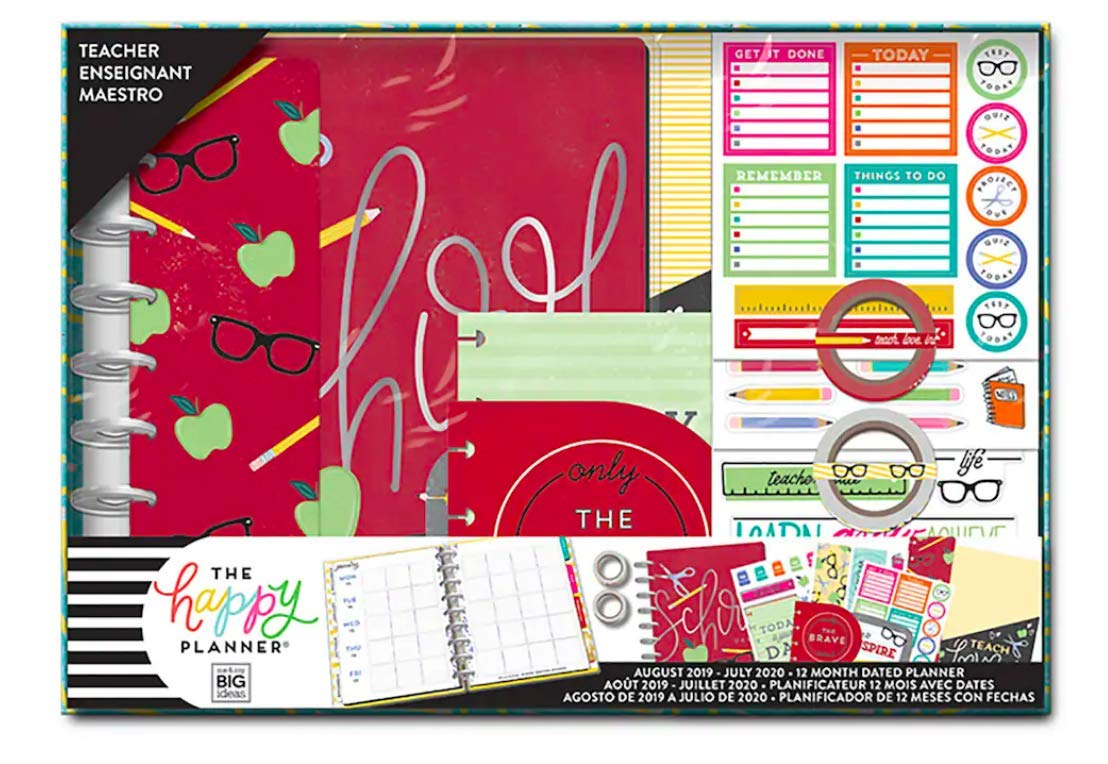 Classic Teacher Happy Planner Box Kit - 12 Month (2019-2020), Create 365  Classic Teacher Planner