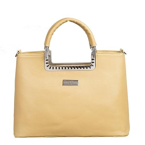 6bf0aece20a Louise Belgium Designer Hand Bag for Women - Yellow: Amazon.in ...